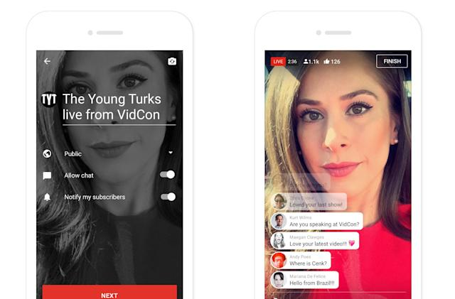 YouTube opens up mobile livestreams to more users