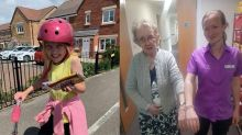Selfless 8-year-old girl visits care home residents every day for five months