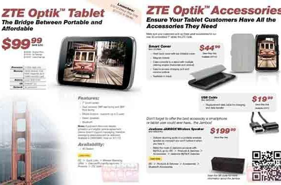 ZTE Optik dual-core tablet eyed up by Sprint, $100 on contract