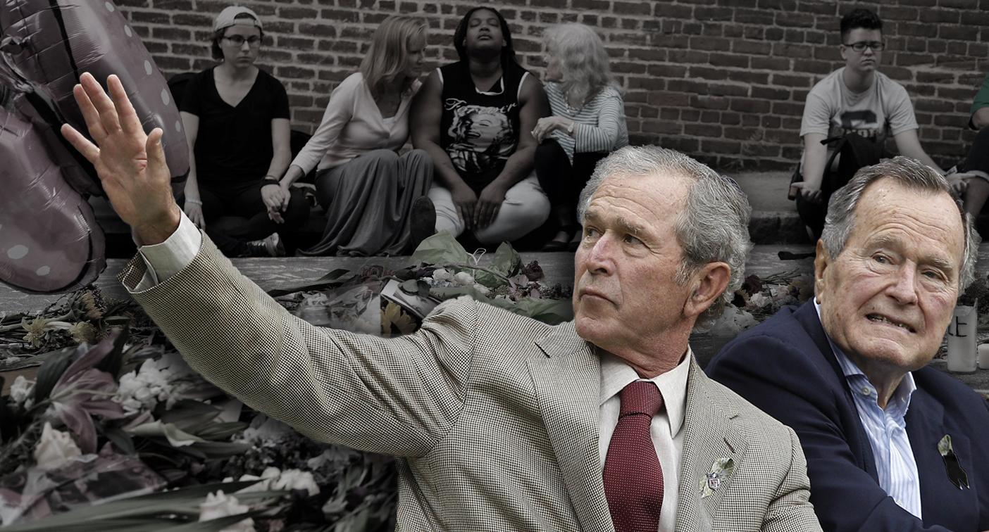After Charlottesville Both Bush Presidents Denounce Hatred In All