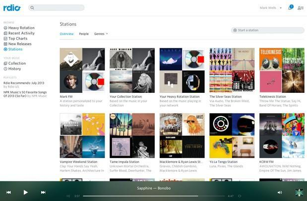 Rdio redesigns its Stations feature, promises more customization