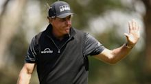 Why was Phil Mickelson in the CBS booth on Saturday at the PGA?