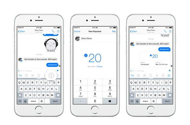 Send money to your friends with Facebook Messenger