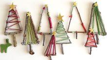 How to make mini Christmas tree decorations