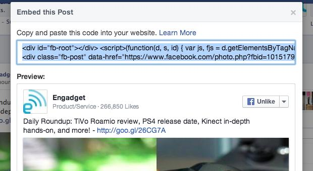Facebook opens up embedded posts to everyone