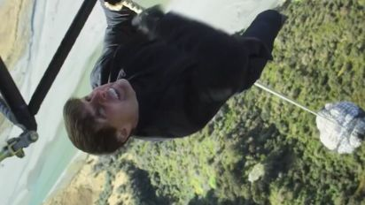 """The """"Mission: Impossible - Fallout"""" cast and crew actually thought Tom Cruise fell to his death during a stunt"""