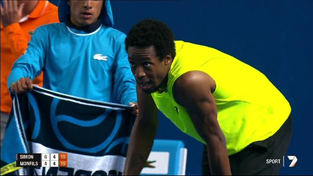 Monfils v Simon: 71 shot rally