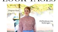 Look des Tages: Emma Stone in pastellfarbenem Chiffon-Outfit bei den Filmfestspielen in Venedig