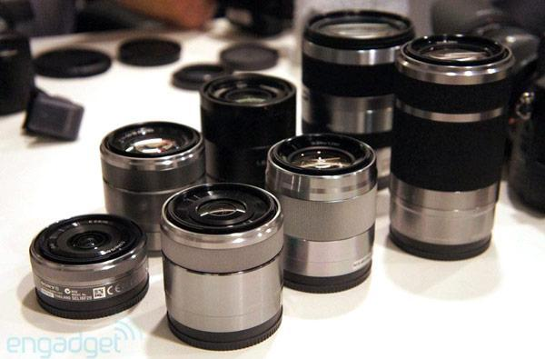 Sony reveals three new NEX E-mount lenses, LA-EA2 A-mount adaptor with translucent mirror