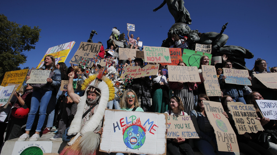 Huge crowds gather for global climate strike
