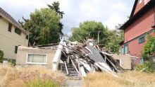 This burned-out, collapsed Vancouver house is listed for $4 million