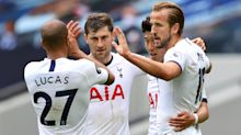 Harry Kane at double as Spurs boost Europa League hopes with win over Leicester