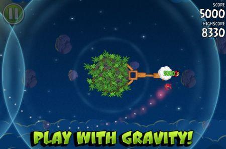 The Physics of Angry Birds updated for Space