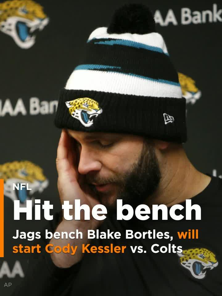 Blake Bortles benched for Cody Kessler for Jags  game vs. Colts  Video  59709aaea03