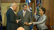 Loretta Lynch Being Sworn in as Attorney General