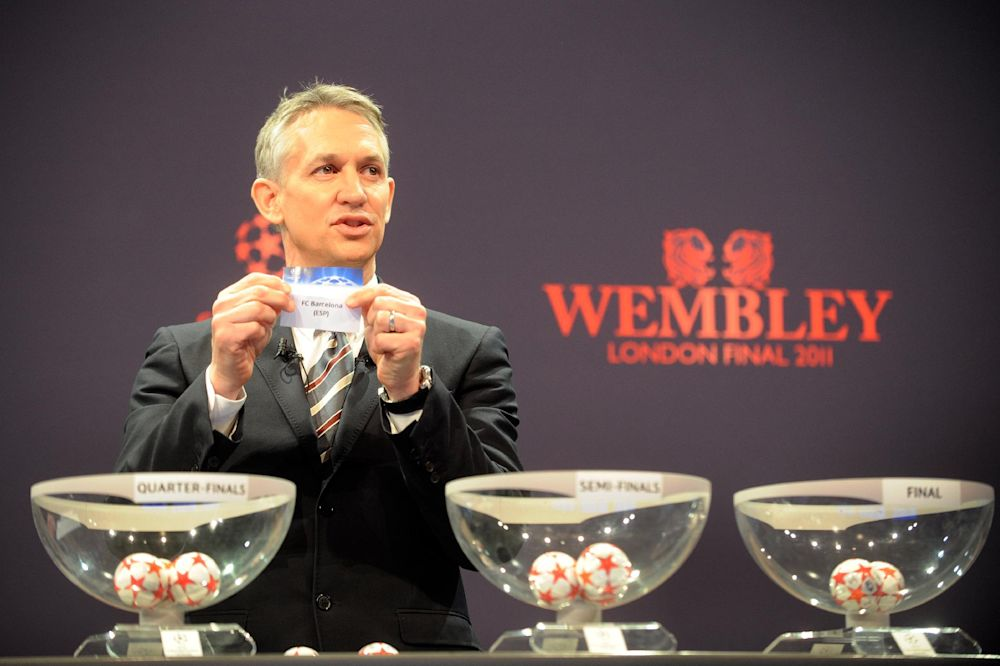 Former English football striker Gary Lineker is pictured in Nyon on March 18, 2011