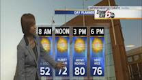 Today's Forecast: Sunny, above-average temps