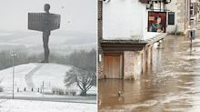UK hit by snow and floods as 'danger to life' warnings remain