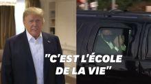 """Trump, qui a """"beaucoup appris sur le covid"""", va saluer ses partisans devant l'hôpital"""