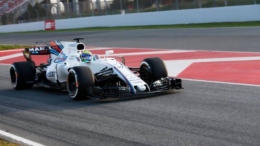 2017年F1最終季前集測首日Massa竄出