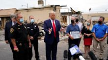 Donald Trump goes maskless in Kenosha, and urges others to do so despite COVID-19 order