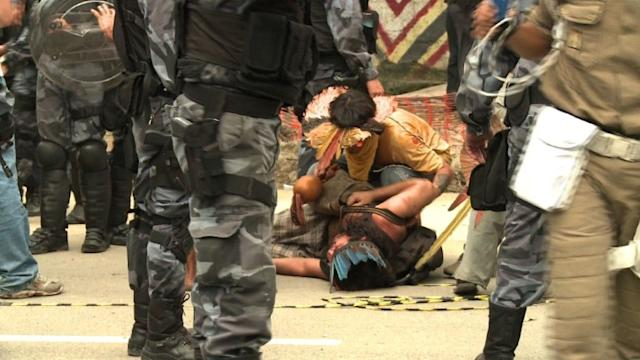 Police evict indigenous Brazilians near World Cup site