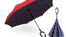 Dieser magische umgedrehte Regenschirm gibt einem das Gefühl Mary Poppins zu sein