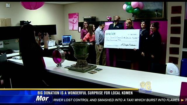 Big donation a wonderful surprise for local Komen