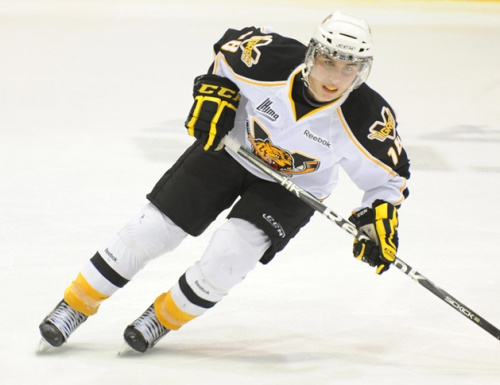 Carl-Antoine Delisle scored a hat-trick and added an assist in Victoriaville's 4-3 win over the Val-d'Or Foreurs on Saturday. [CP - Remi Senechal]