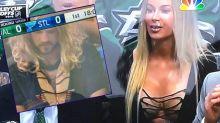 Schönheit auf der Tribüne bei NHL-Spiel: Fans fahnden mit Erfolg nach Model