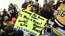 Woman's sign at a hockey game, pleading for a kidney donor, goes viral