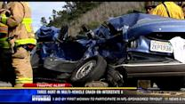 3 hurt in multi-vehicle crash on I-8 in Mission Valley
