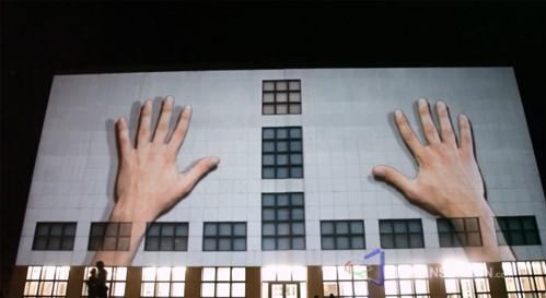 Video: life-altering 3D projection gets splashed on German building