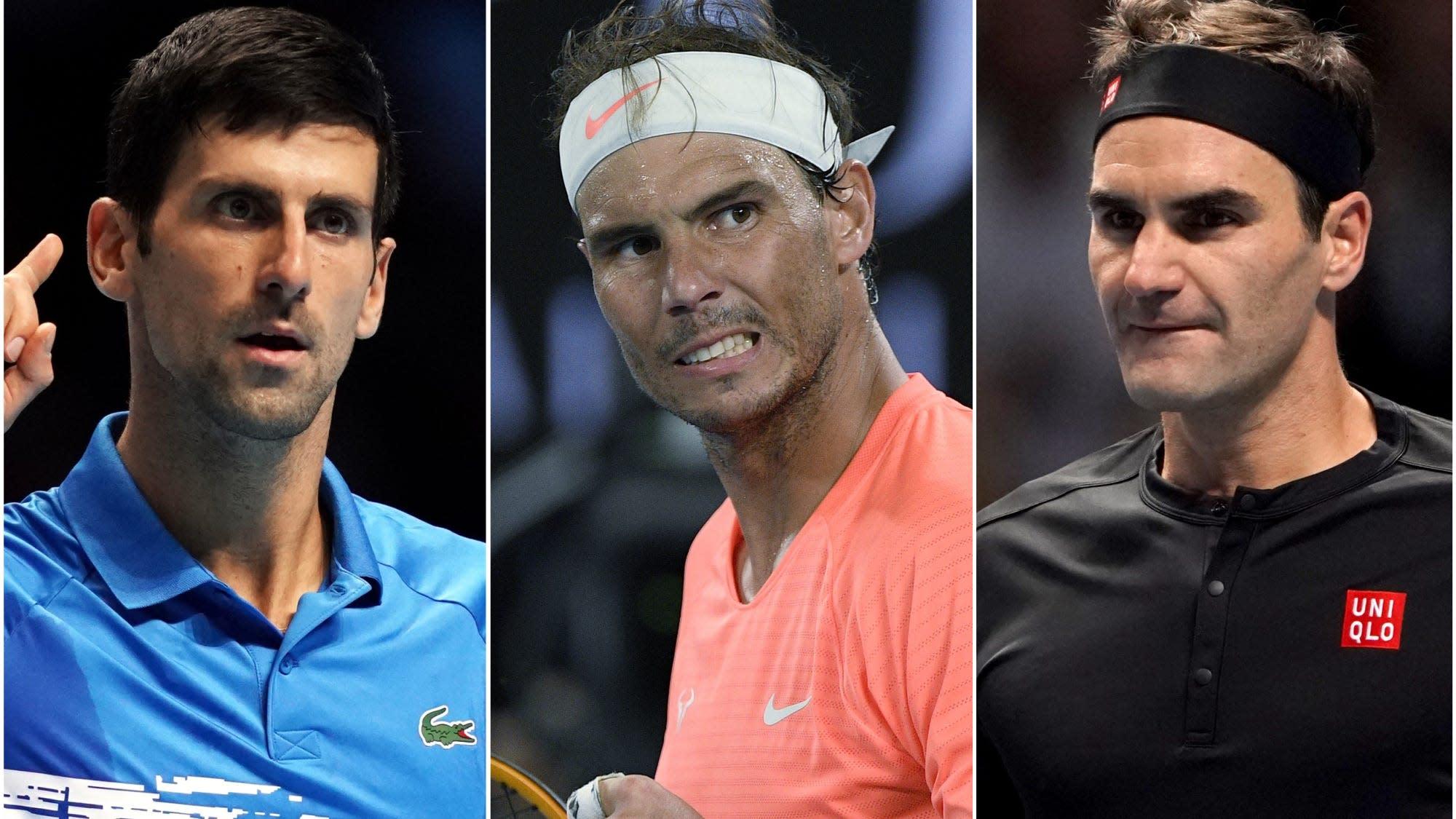 Novak Djokovic, Rafael Nadal and Roger Federer in same ...