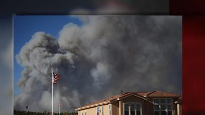 Raw: First Hand Look at Colo. Wildfire Battle