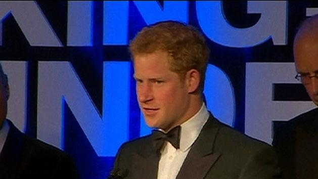 Prince Harry attends charity dinner
