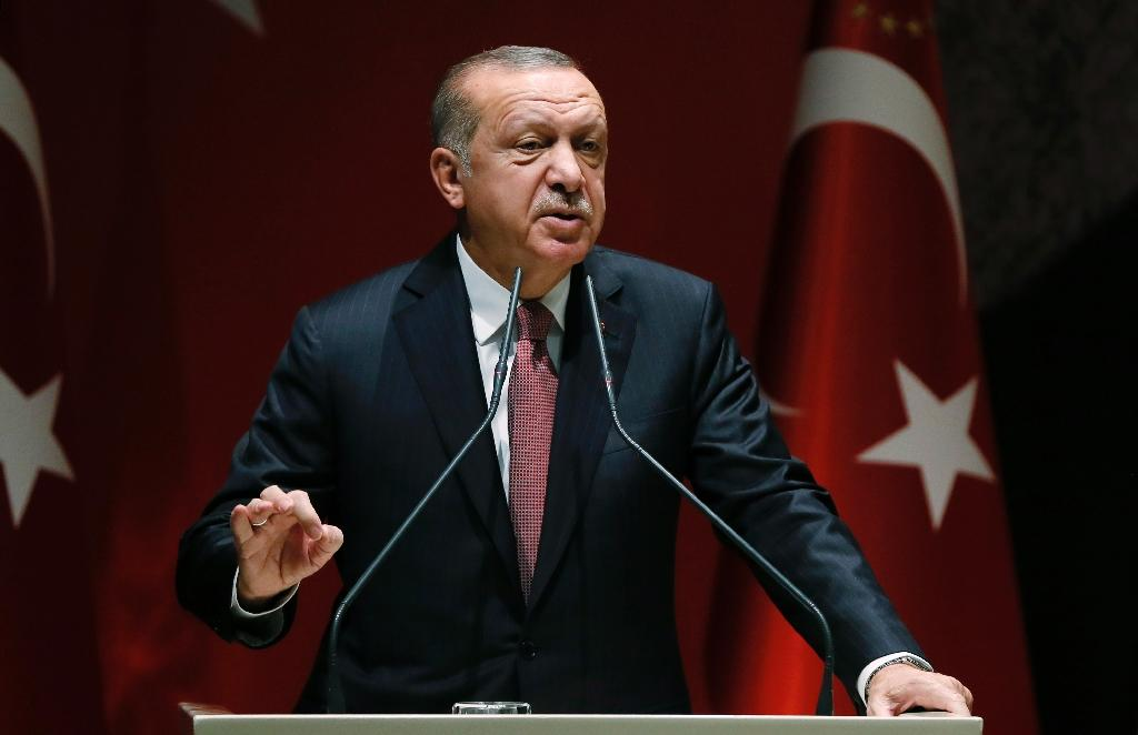 For Turkish President Recep Tayyip Erdogan promoting the Muslim Brotherhood -- which Saudi Arabia has sought to marginalise in the Arab world -- is at the heart of this power struggle (AFP Photo/Handout)