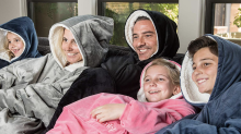 This cozy oversized sherpa hoodie is like wearing a blanket — 'I love it, my dog loves it, my friends are envious'