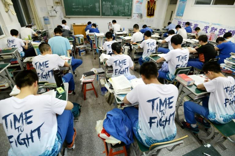 The country's education system revolves around the notorious 'gaokao' exam, which is the only route to Chinese universities (AFP Photo/STR)
