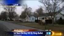 Merrillville boy, 14, shot in head through window
