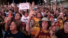 Relive scenes from around Cleveland as the Cavs won the 2016 NBA Championship (video)