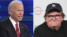 Michael Moore blasts Joe Biden over former VP's statement on healthcare