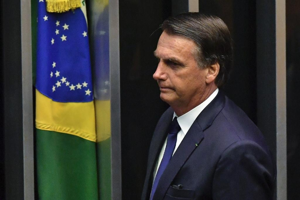 """Brazil's newly sworn-in President Jair Bolsonaro repeatedly railed against leftwing """"ideology"""" (AFP Photo/NELSON ALMEIDA)"""