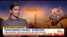 Stars of Transformers prequel 'Bumblebee' sit down with Sunrise