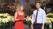 Scarlett Johansson Puts It All Out There For Fiancé Colin Jost On 'Saturday Night Live'