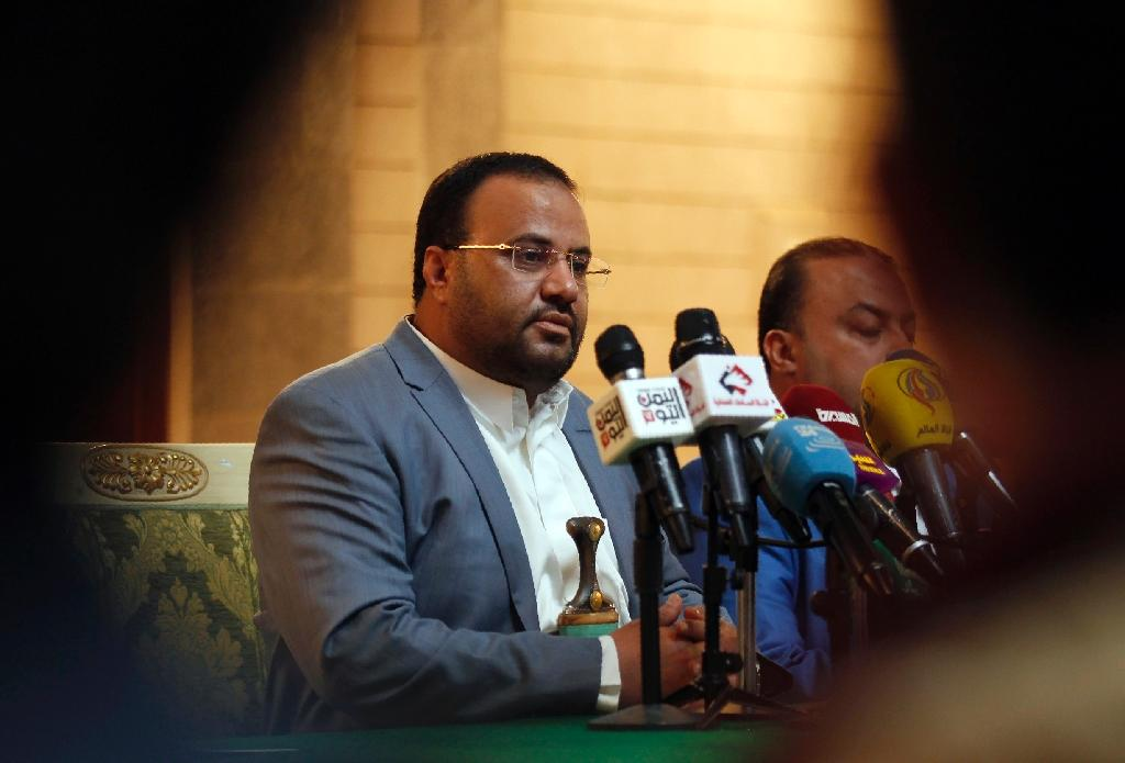 The political head of Yemen's Huthi Shiite rebels, Saleh al-Sammad, attends a meeting with freed prisoners in Sanaa on January 31, 2017 (AFP Photo/MOHAMMED HUWAIS)
