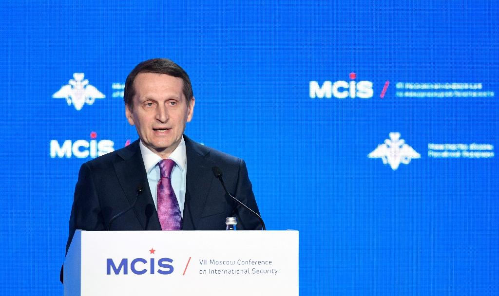 Foreign Intelligence Service head Sergei Naryshkin warned against escalating tensions to Cold War levels