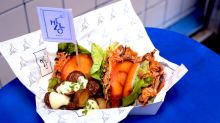 New Chinatown vegan street food stall hawks plant-based burgers, waffles, ice cream, and more