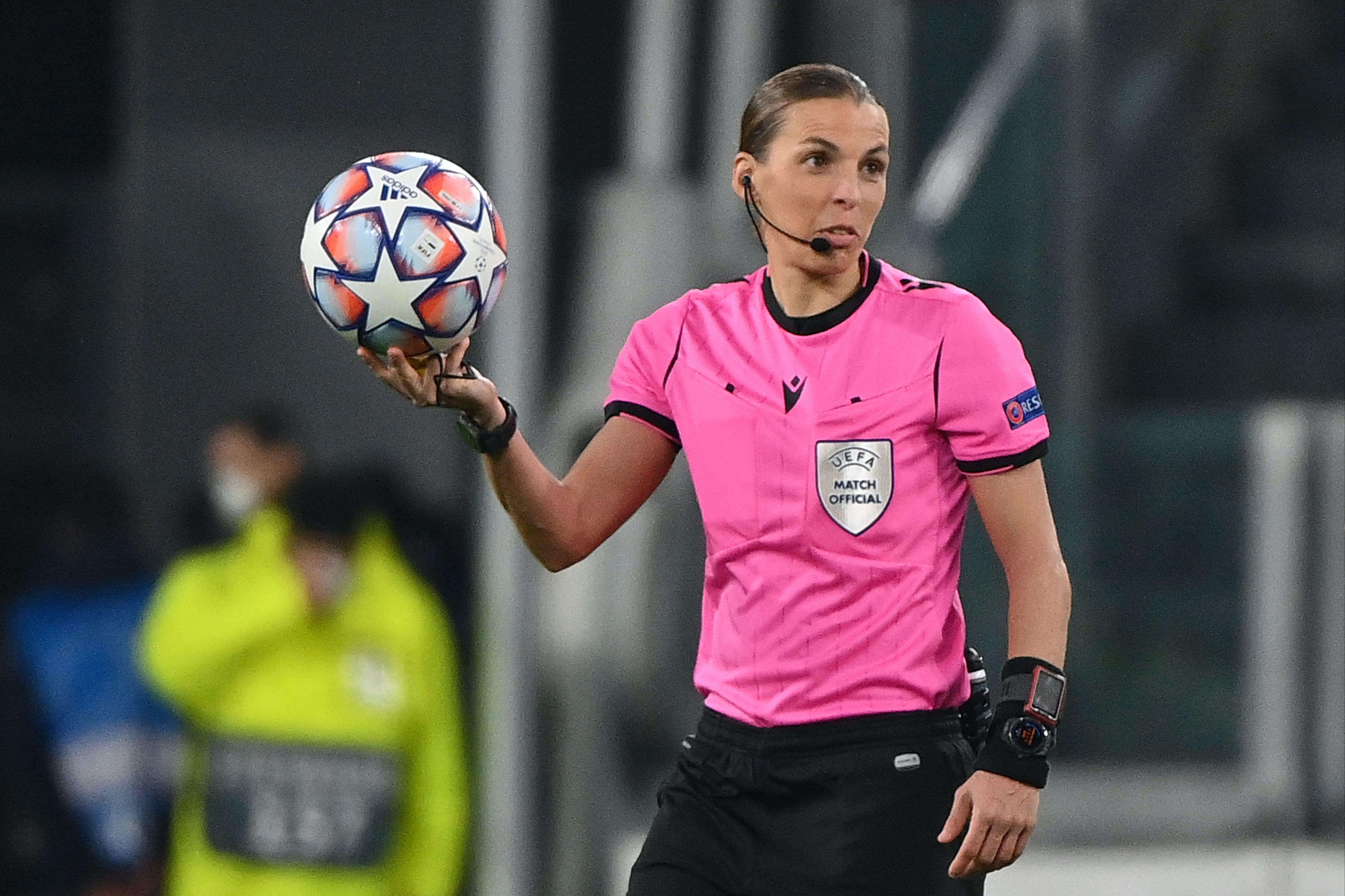 Stephanie Frappart becomes first female referee to take charge of men's Champions League match