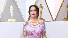 Salma Hayek se 'disfraza' para los Oscar